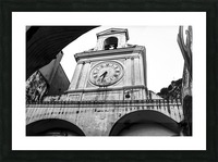 The Church - Ancient Tower Clock Picture Frame print