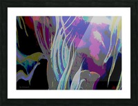 Colorful Melody Waves Picture Frame print