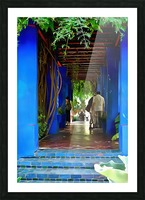 Shady Blue Walkway Marrakech Picture Frame print