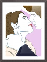 Scoundrel's Kiss Picture Frame print