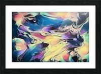 Smooth Brandy - multicolor abstract swirl wall art Picture Frame print