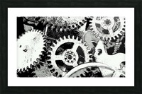 Gear Space Picture Frame print