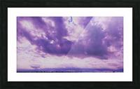 Purple skies Picture Frame print