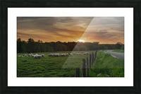 Au soleil couchant  Impression et Cadre photo