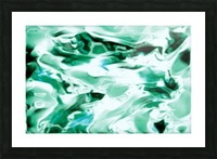 Icicles - turquoise white abstract swirls wall art Picture Frame print
