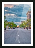 Storm Over Main Street Picture Frame print