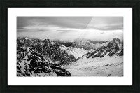 Zugspitze in black and white Picture Frame print