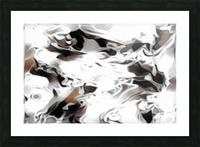 Brown Sugar & Coffee - brown grey white black swirls large abstract wall art Picture Frame print