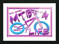 MTB 4 LIFE   ECO ARTIST TOMMY BOYD Picture Frame print
