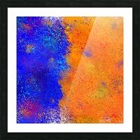 Seisnahorra - orange and blue balanced freedom Picture Frame print