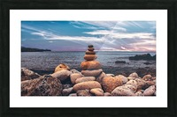 Rock balancing  Picture Frame print