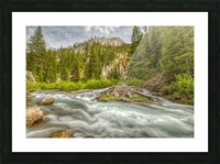 Periodic Spring Flowing into Swift Creek Picture Frame print