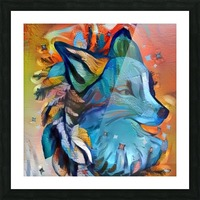 The Blue Wolf Picture Frame print