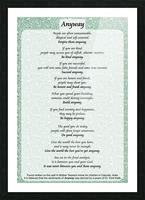 2-Anyway Poem Picture Frame print