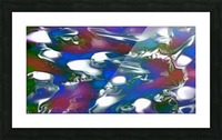 Morphing Dreams - blue green purple swirls and spots large abstract wall art Picture Frame print