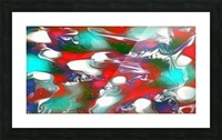 Cherries Limes & Blueberries - multicolor swirls and spots abstract wall art Picture Frame print