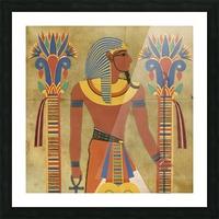 egyptian tutunkhamun pharaoh design Picture Frame print