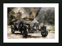 car automobile old timer automotive Picture Frame print