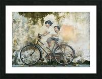 bicycle children graffiti art Picture Frame print