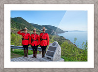 RCMP on French Mountain Picture Frame print
