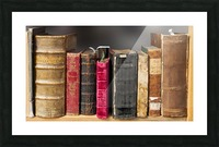 book read old literature pages Picture Frame print