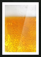 Beer Bubbles pattern Picture Frame print