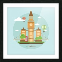 london watch landmark england Picture Frame print