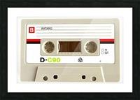 cassette tape recorder vintage old Picture Frame print