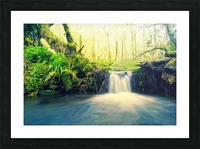 waterfall river nature forest  Picture Frame print