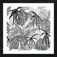drawing leaves nature picture Picture Frame print
