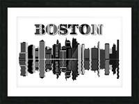Boston cityscape buildings skyscrapers Picture Frame print