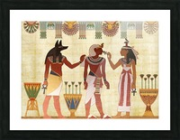 egyptian design man woman priest Picture Frame print