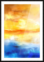 Abstract Warm Sunset I Picture Frame print