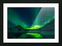 iceland aurora borealis Picture Frame print