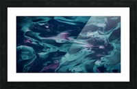 Magic Snake - turquoise blue purple swirls abstract wall art Picture Frame print