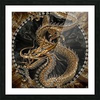 fantasy Dragon Pentagram Picture Frame print