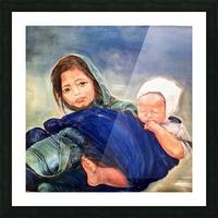 Child raising a Child Impression et Cadre photo