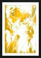Abundant Aura - white gold swirls abstract wall art Picture Frame print