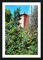 Tower At Jardin Majorelle Marrakech Picture Frame print