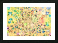 flowers color colorful watercolour Picture Frame print