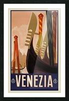 vintage travel travel poster Picture Frame print