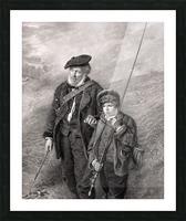 sea fishing fishing man boy lad Picture Frame print