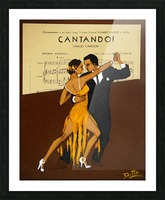 advertisement tango music dance Picture Frame print