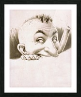 vintage poster man male people Picture Frame print