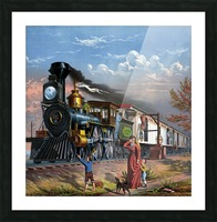 train mail train steam train people Picture Frame print