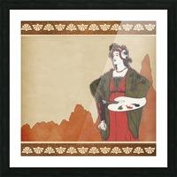 art nouveau vintage woman artist Picture Frame print