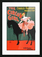 the circus girl vintage poster girl Picture Frame print