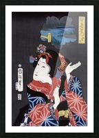 japanese maiden young woman female Picture Frame print