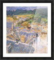 Roofs, Pont-Aven by Hassam Picture Frame print