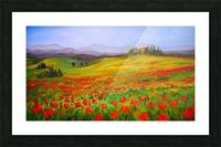 painting art landscape acrylic Picture Frame print